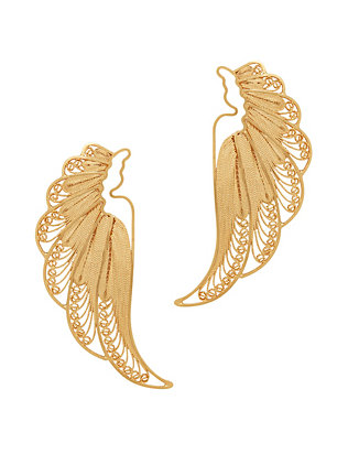 Mallarino Violetta Large Wing Earrings