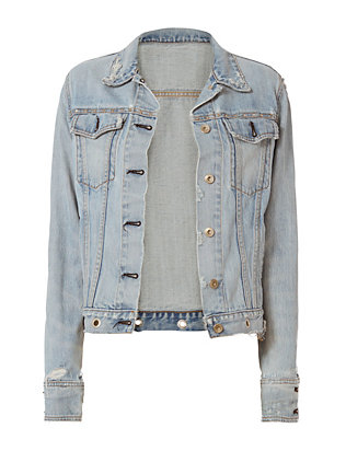 Rag & Bone/JEAN Avenida Studded Denim Jacket