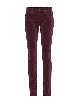 Rag & Bone/JEAN EXCLUSIVE Skinny Corduroy: Burgundy