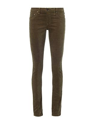 Loden Velvet Skinny Jeans