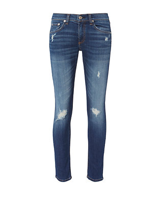 Canyon Distressed Capri Jeans