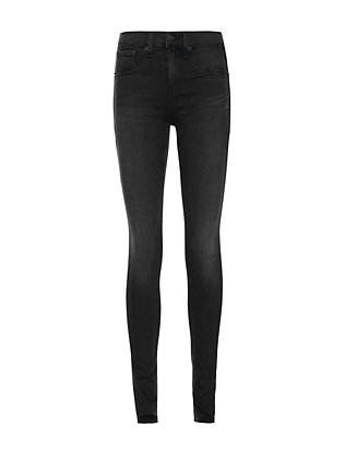 Rag & Bone/JEAN Washed Black High Rise Skinny