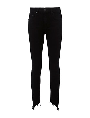 Rag & Bone/JEAN High-Rise Destroyed Capri Hem Skinny Jeans