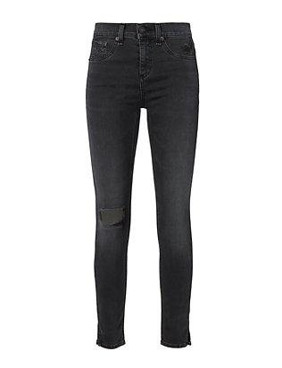 Steele Slit 10 Inch Capri Jeans