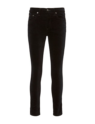 Black Velvet Crop Pants