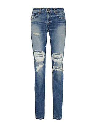 Dre Kennedy Ripped Cuff Jeans