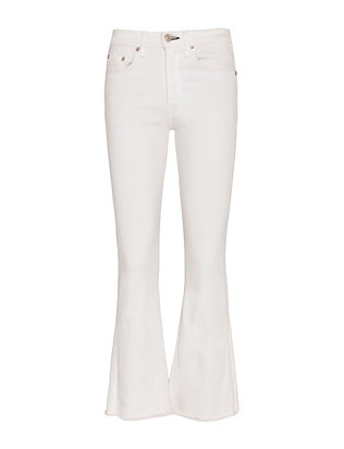 Rag & Bone/JEAN Bright White Crop Flare