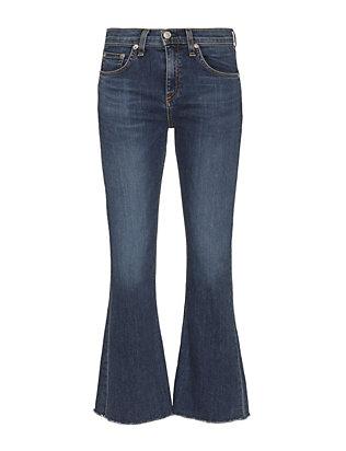 Paz 10 Inch Crop Flare Jeans