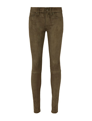 Loden Suede Skinny Pants