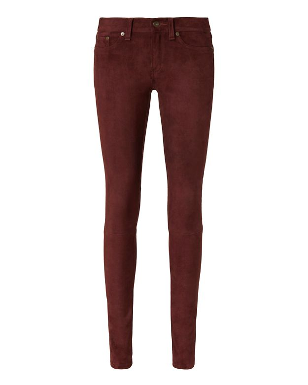 Rag & Bone/JEAN Port Suede Skinny Pants