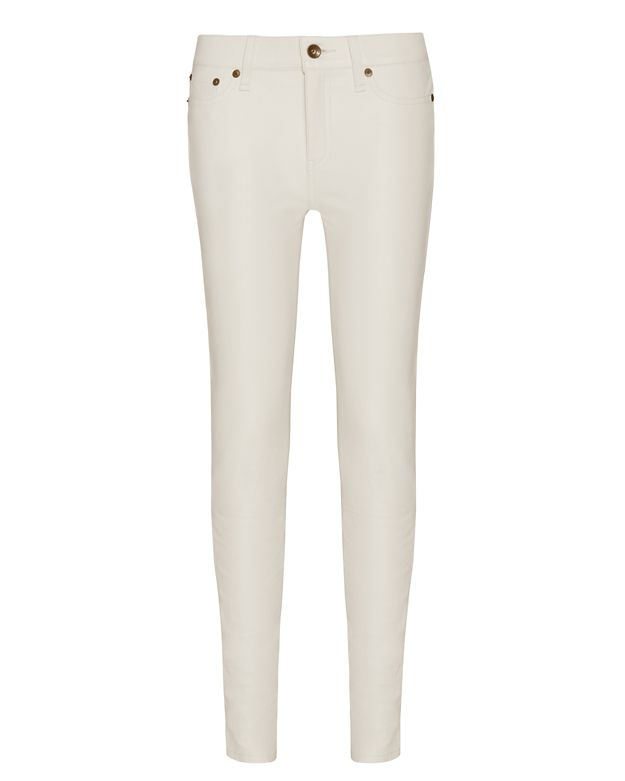 rag & bone/JEAN Leather Capri: White