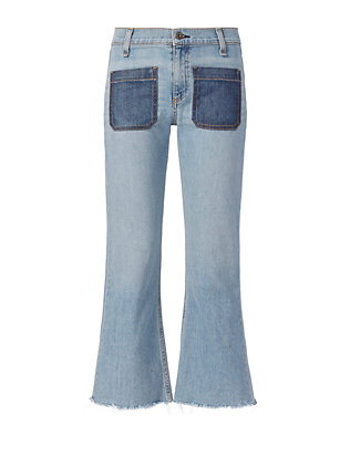 Rag & Bone/JEAN Varick Santa Cruz Denim Patch Flare