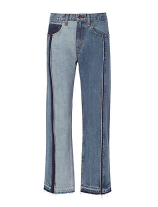 Rag & Bone/JEAN Magnolia Two-Tone Crop Jeans