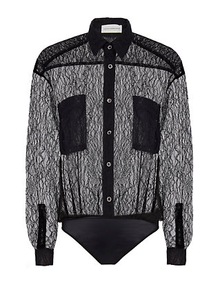Faith Connexion Lace Bodysuit Blouse