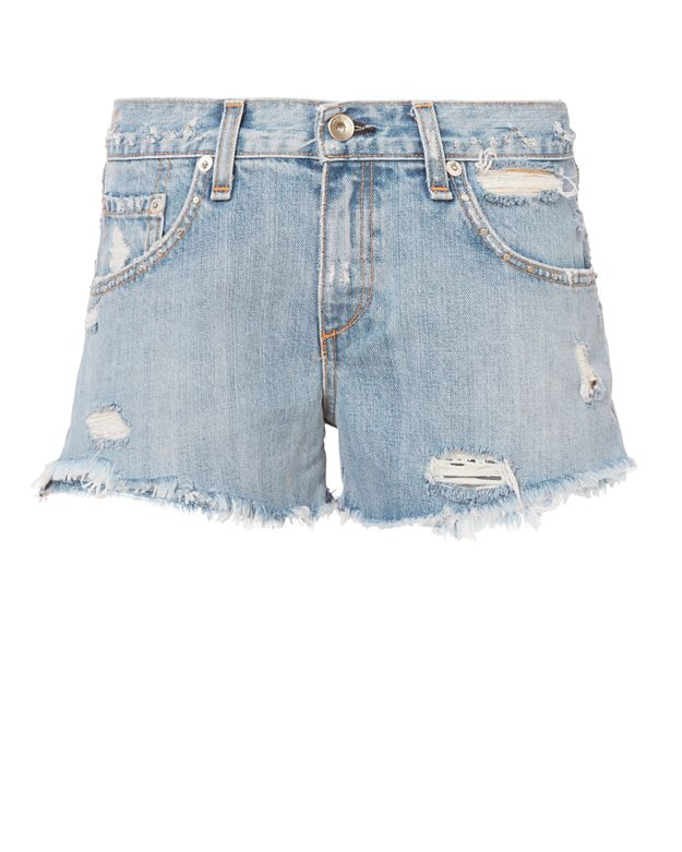 Rag & Bone/JEAN Avenida Studded Boyfriend Cut Off Shorts