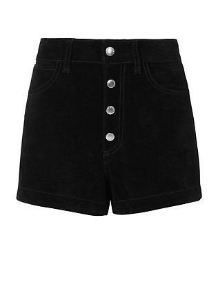 Rag & Bone/JEAN Lou Black Suede Shorts