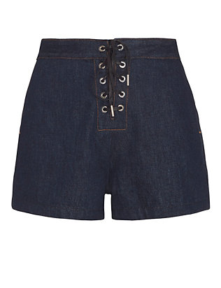 Rag & Bone/JEAN Lace-Up Resin Short