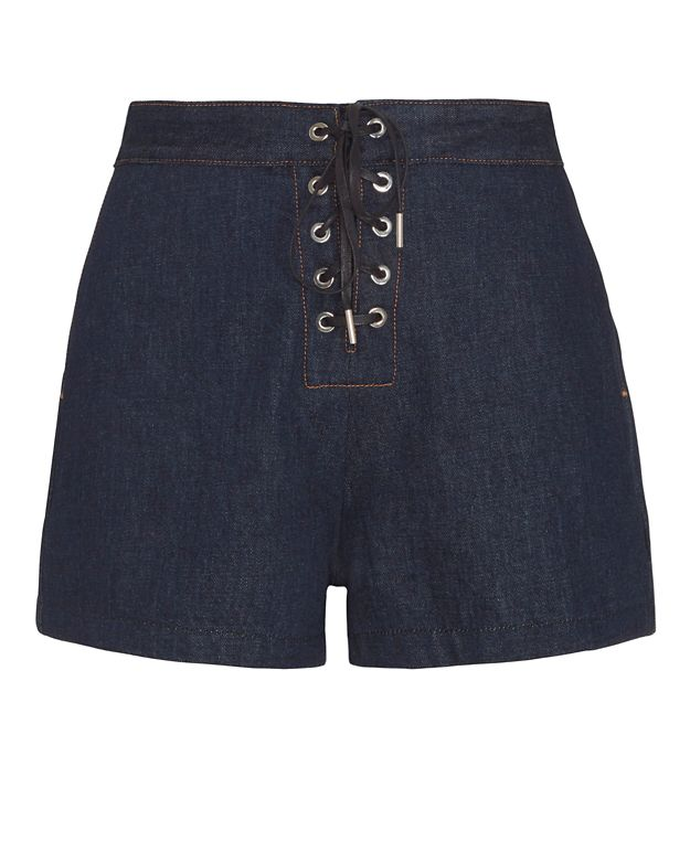 Rag & Bone/JEAN Lace-Up Resin Shorts