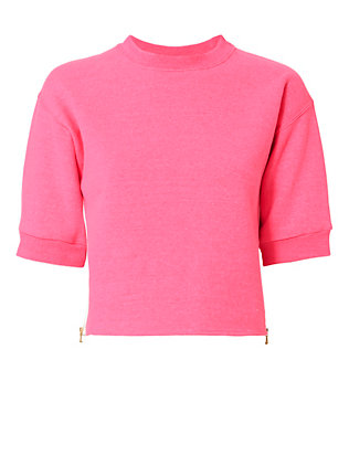 Harvey Faircloth Zipper Detail Cropped Sweatshirt