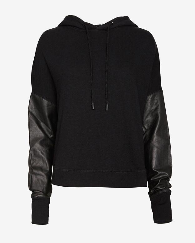 sale       -_-  exclusive       rag-&-bone_jean-exclusive-leather-sleeve-sweatshirt by rag-&-bone_jean