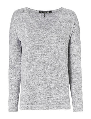 rag & bone/JEAN Theo V Neck Tee: Grey
