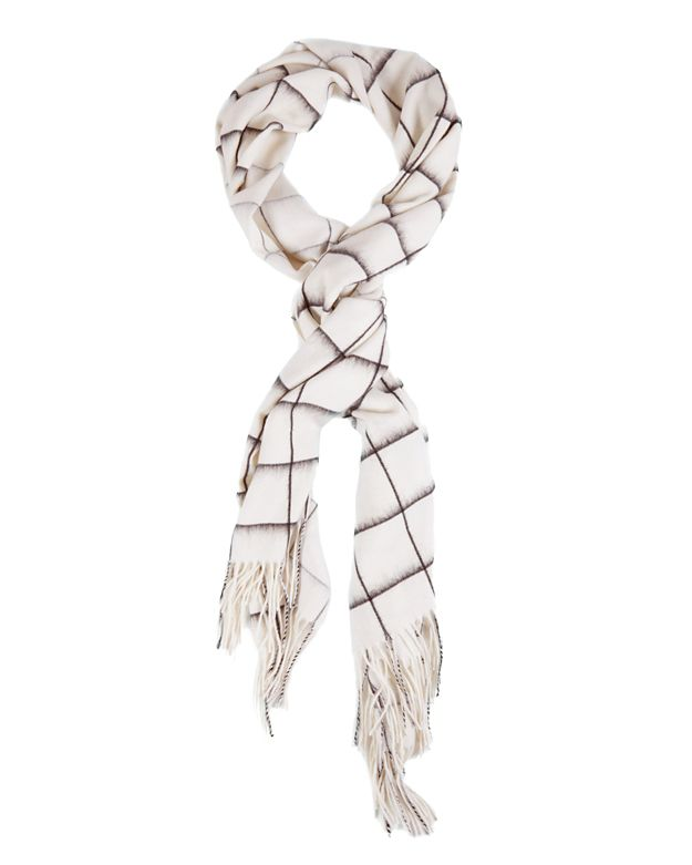 Rag & Bone Brushed Scarf: Black/White