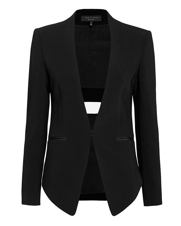 Rag & Bone Teresa Slash Back Blazer: Black