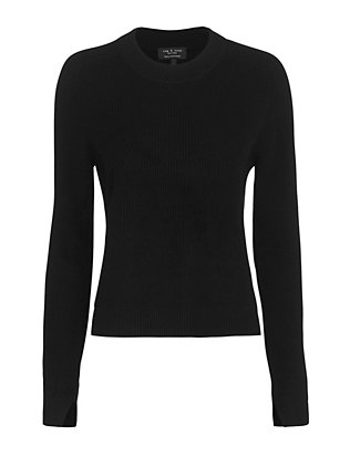Rag & Bone Valentina Cropped Cashmere Sweater