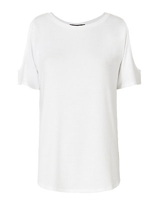 Rag & Bone/JEAN Show Off Cold Shoulder Tee
