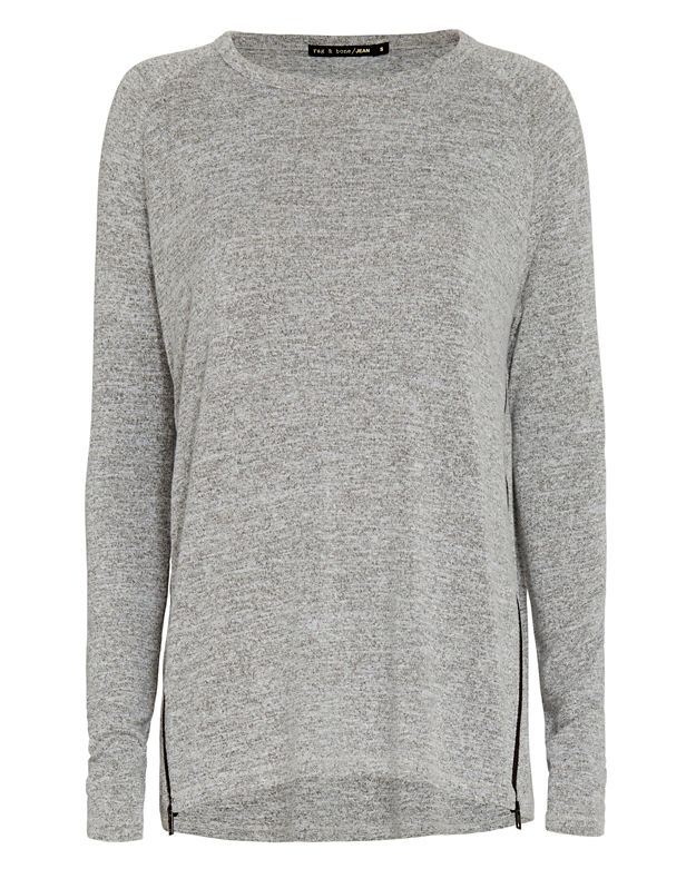 Rag & Bone/JEAN EXCLUSIVE Zip Detail Camden Tee