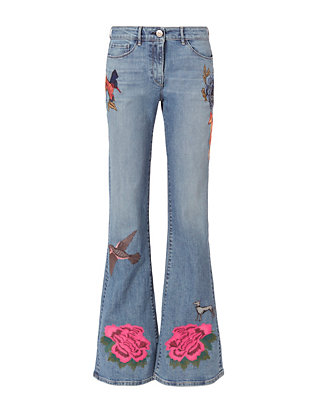 W25 Embroidered Bell Jeans