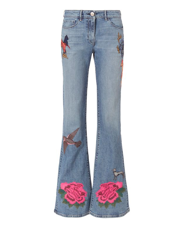 3x1 W25 Embroidered Bell Denim