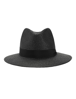 Rag & Bone Panama Hat: Black