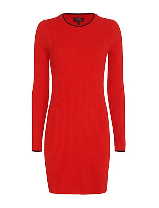 rag & bone Liliana Ribbed Cashmere Knit Dress: Red