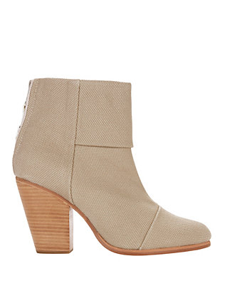 rag & bone Canvas Newbury Booties: Beige