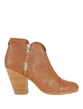 Rag & Bone EXCLUSIVE Margot Perforated Double Zip Bootie