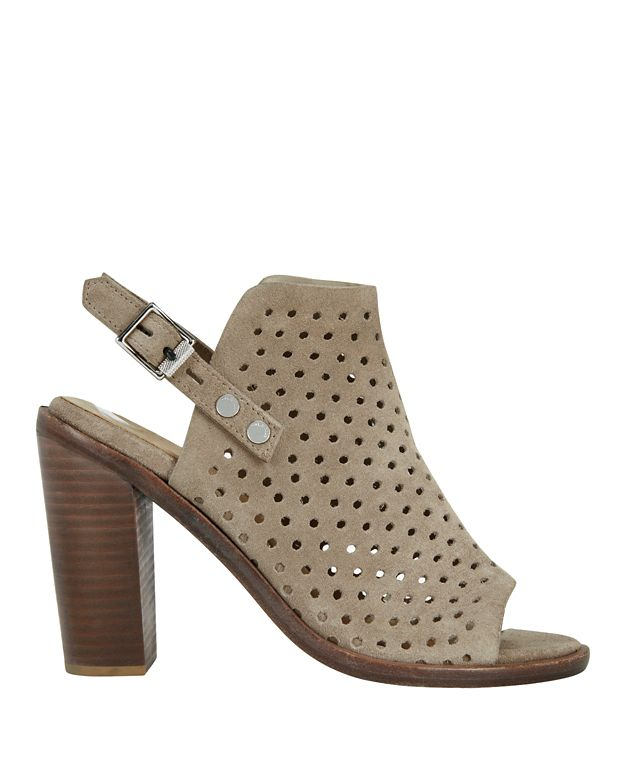 Rag & Bone Wyatt Perforated Suede Stack Heel Slingback