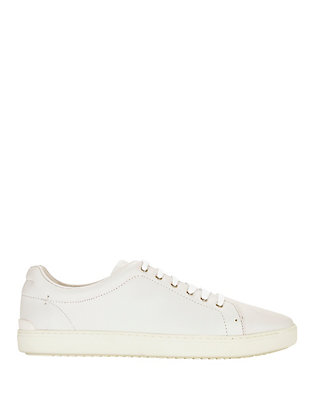 Rag & Bone Kent Lace-Up Leather Sneakers: White