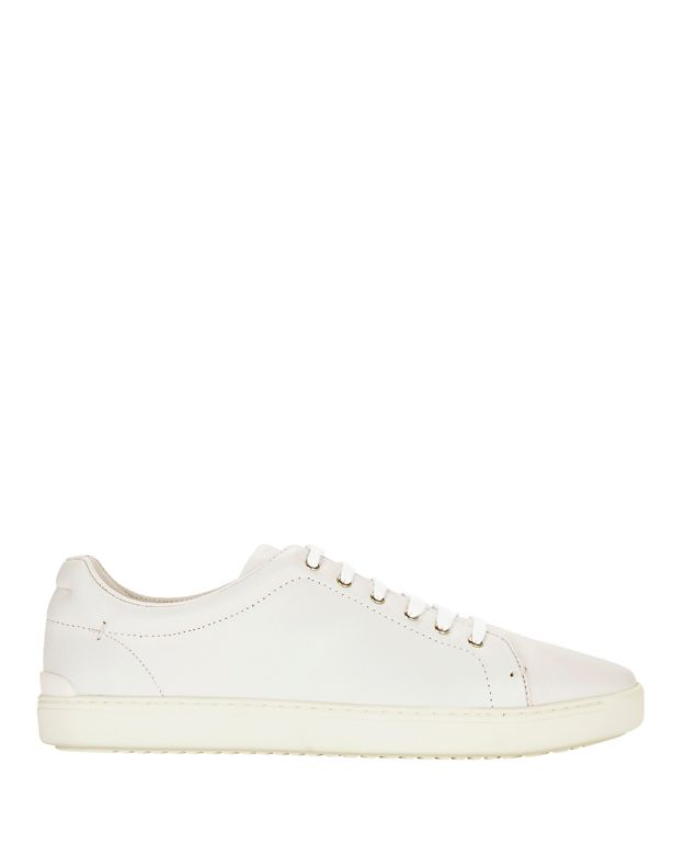 Rag & Bone Kent Lace-Up Leather Sneaker: White
