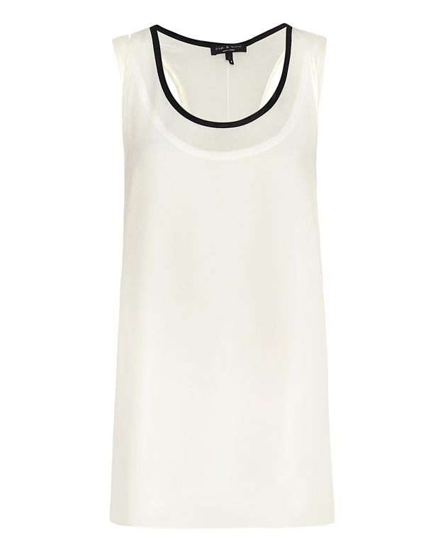 Rag & Bone Farah Double Layer Tank: White