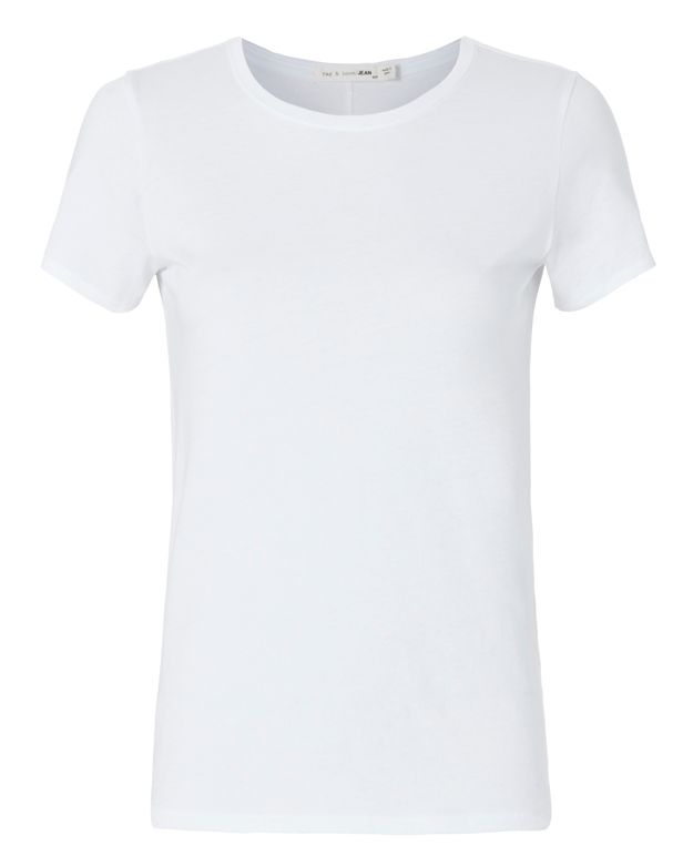 Rag & Bone/JEAN Base Layer Crew Tee: White