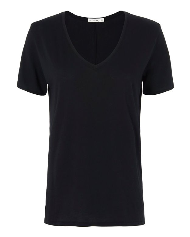 Rag & Bone/JEAN Base Layer V Tee: Black