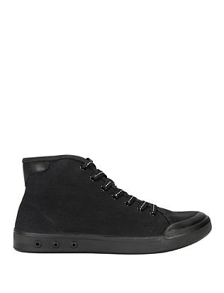 Rag & Bone Standard Issue Hi-Top Sneaker: Black