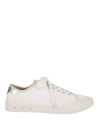Standard Issue Lace-Up Sneakers: White