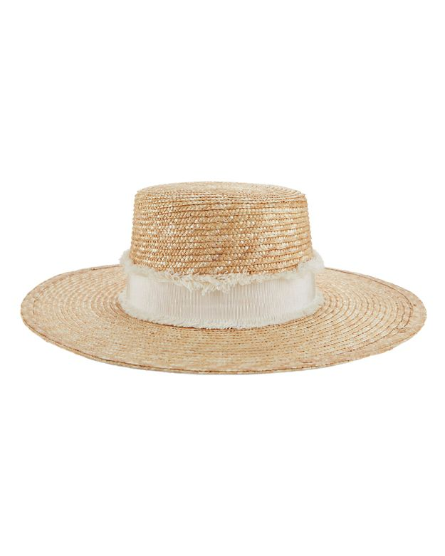 Rag & Bone Laurie Straw Boater Hat