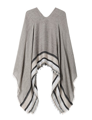Rag & Bone Striped Pullover Poncho