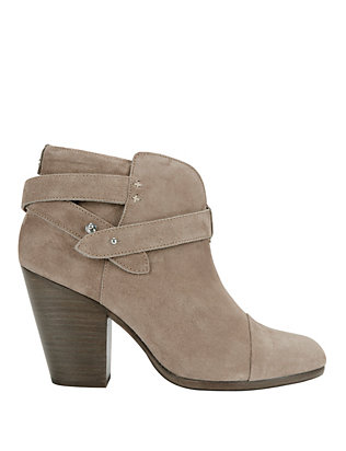 Harrow Grey Suede Booties