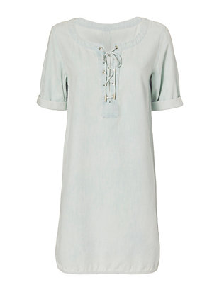 Rag & Bone/JEAN Lace-Up Denim Dress