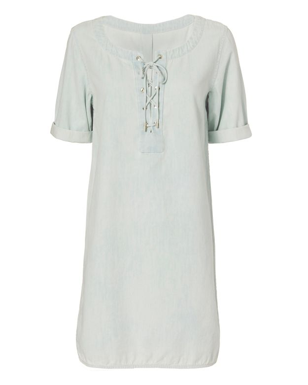 Rag & Bone/JEAN EXCLUSIVE Lace-Up Denim Dress