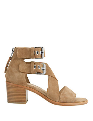Madrid Stack Heel Suede Sandals